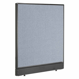 "Interion™ Office Cubicle Partition Panel with Raceway, 48-1/4""W x 46""H, Blue"