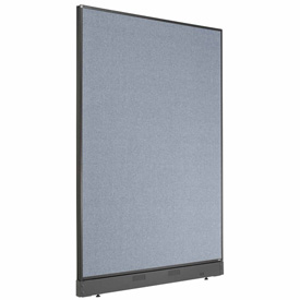 "Interion™ Office Cubicle Partition Panel with Raceway, 48-1/4""W x 64""H, Blue"