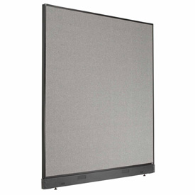 "Interion™ Office Partition Panel with Raceway, 60-1/4""W x 64""H, Gray"