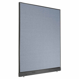 """Office Partition Panel with Raceway, 60-1/4""""W x 76""""H, Blue"""
