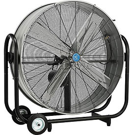 36 Inch Portable Tilt Drum Blower Fan - Belt Drive