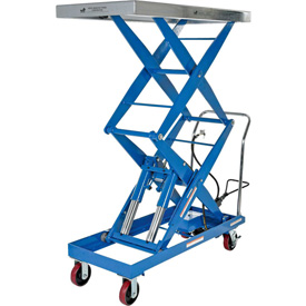 Vestil Pneumatic-Hydraulic Mobile Scissor Lift Table AIR-1500-D 1500 Lb. Cap.