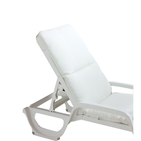 Grosfillex® Chaise Cushion With Hood - White - Pkg Qty 6