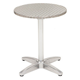 "KFI Outdoor 32"" Round Stainless Steel Table"