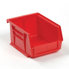 Global™ Plastic Storage Bin - Small Parts 4-1/8 x 5-3/8 x 3, Red - Pkg Qty 24