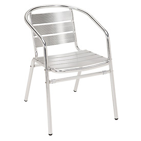 KFI Outdoor Stackable Arm Chair - Aluminum