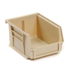Global™ Stackable Storage Bin 4-1/8 x 7-3/8 x 3, Beige - Pkg Qty 24