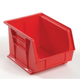 Global™ Plastic Storage Bin - Small Parts 8-1/4 x 10-3/4 x 7, Red - Pkg Qty 6