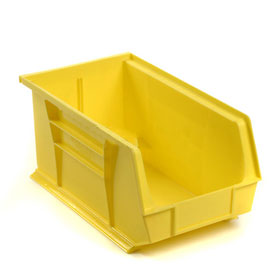 Global™ Plastic Storage Bin - Parts Storage Bin 8-1/4 x 14-3/4 x 7, Yellow - Pkg Qty 12