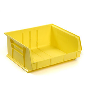 Global™ Plastic Storage Bin - Parts Storage Bin 16-1/2 x 14-3/4 x 7, Yellow - Pkg Qty 6