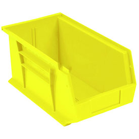 Global™ Plastic Storage Bin - Parts Storage Bin 5-1/2 x 14-3/4 x 5, Yellow - Pkg Qty 12