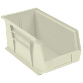 Global™ Stackable Storage Bin 5-1/2 x 14-3/4 x 5, Beige - Pkg Qty 12