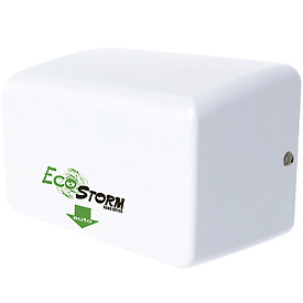 EcoStorm Hands Free High-Speed Hand Dryer - White Metal