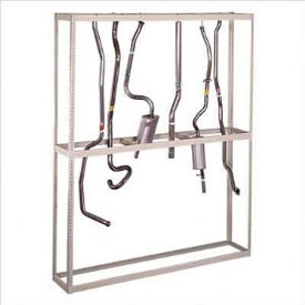 "Hanging Tailpipe Rack 48""W x 18""D x 120""H"