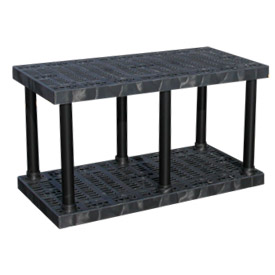"Structural Plastic Vented Shelving, 48""W x 24""D x 27""H, Black"