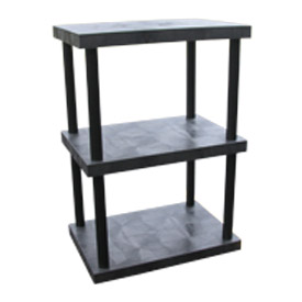 "Structural Plastic Solid Shelving, 36""W x 24""D x 51""H, Black"