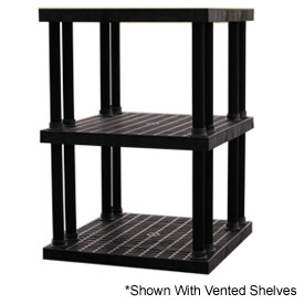 "Structural Plastic Solid Shelving, 36""W x 36""D x 51""H, Black"