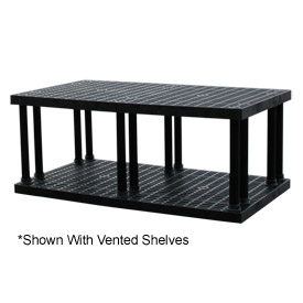 "Structural Plastic Solid Shelving, 96""W x 36""D x 27""H, Black"