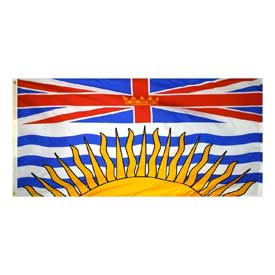 Buy 3 x 6 ft Nylon British Columbia Flag
