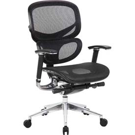 Boss Ergonomic Mesh Back Task Chair - High Back - Black