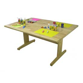 "Allied Plastics Art and Projects Table -  42"" x 60"" Hardwood Top"