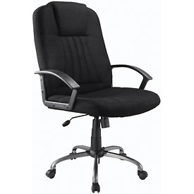 Executive Office Chair - Fabric - High Back - Black