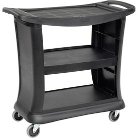 Rubbermaid® 9T68 Black Executive Service Cart 39 x 21 x 38 300 Lb. Capacity