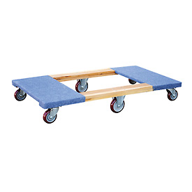 Vestil Six-Wheel Carpeted End Wood Deck Movers Dolly HDOC-2448-12 48x24