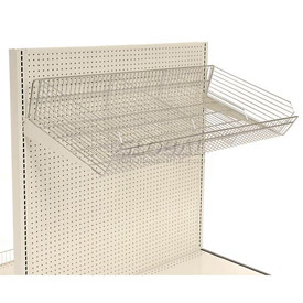"Wire Basket with Brackets 48""W x 16""D"