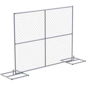Steel Construction Barrier Starter Unit, One Panel and Two Base Units