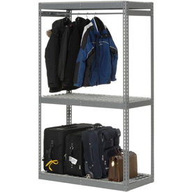 "Boltless Luggage Garment Single Rack - 48""W x 24""D x 84""H"