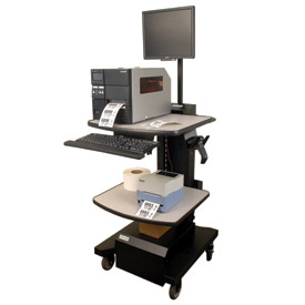 Mobile Warehouse Computer Workstation Cart Std Power Package, 200AH Battery Newcastle Systems NB