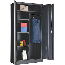 "Global™ Combination Cabinet Easy Assembly 36""W x 18""D x 72""H Black"