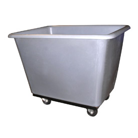Bayhead Products Gray Poly Box Truck 8 Bushel Capacity