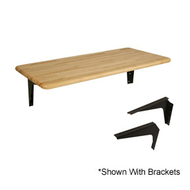 "ADA Locker Room Hardwood Bench Top, 48""W x 20""D"