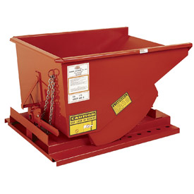 Modern Equipment MECO SDHX100 1 Cu. Yd. Orange Extra Heavy Duty Hopper