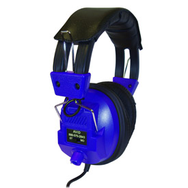 Stereo/Mono Headphones with Plug Adaptor & Volume Control Blue