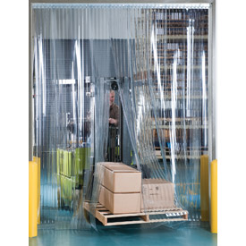 """Aleco Visi-Guard Strip Door 456018 10' x 12' with 12"""" Strips by"""