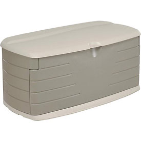 Rubbermaid 5F22 Large Deck Box With Seat 12 Cubic Feet