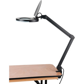 5 Diopter LED Magnifying Lamp With Covered Metal Arm, Black