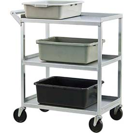 New Age NS745 Aluminum Utility & Bussing Cart 32-1/2 x 18-1/2 350 Lb. Cap