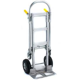 Wesco® Spartan Jr. Aluminum 2-in-1 Hand Truck 220000 Pneumatic Wheels