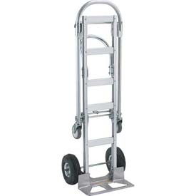 Wesco® Spartan Sr. Aluminum 2-in-1 Hand Truck 220001 Pneumatic Wheels