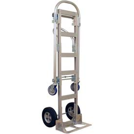Wesco® Spartan Sr. Aluminum 2-in-1 Hand Truck 219999 Rubber Wheels