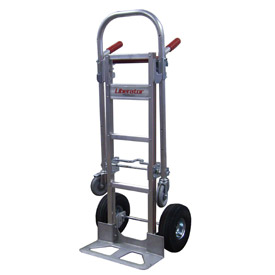 B & P Liberator Junior 2-in-1 Convertible Hand Truck B70 CA2 D5 Pneumatic Wheels