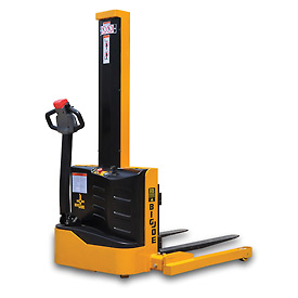"Big Joe® S22 Fully Powered Straddle Stacker 2200 Lb. 62"" Lift Forks Inside"
