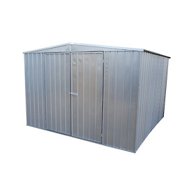 "Outdoor Utility Steel Storage Shed 118""W x118""D x 83""H"