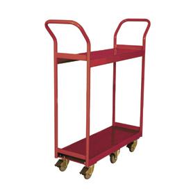Wesco® Narrow Aisle Platform Truck 260192 36x24 2 Shelves