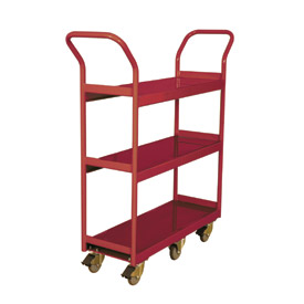 Wesco® Narrow Aisle Platform Truck 260195 48x24 3 Shelves