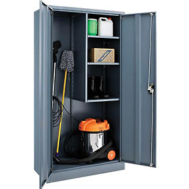 Global™ Janitorial Cabinet Cabinet Assembled 36x18x72 Gray